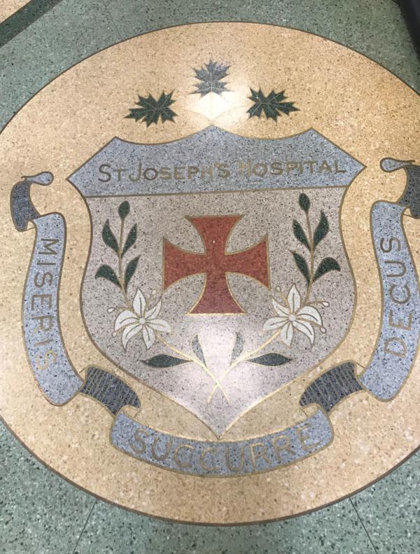 st. jospehs hospital tile mosaic